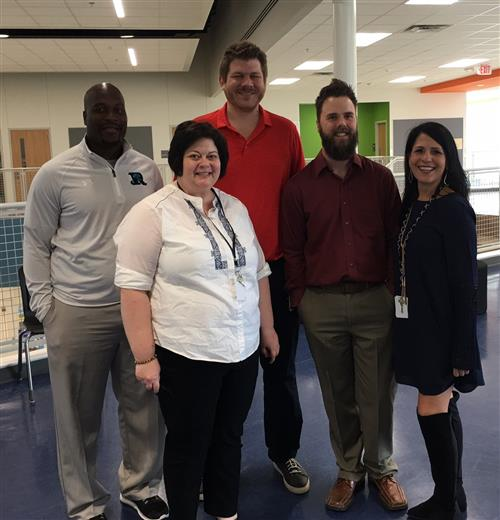From left to right: Mr. Smith, Ms. DeLoach, Mr. Murphy, Mr. Dickerson, Ms. Bilgri