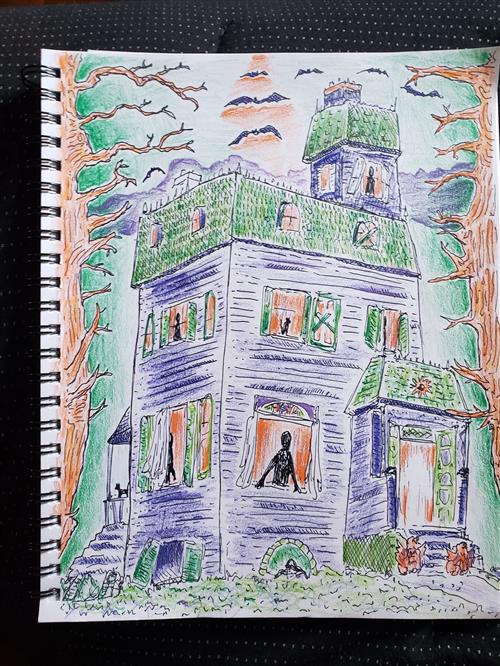 Haunted House Sketch