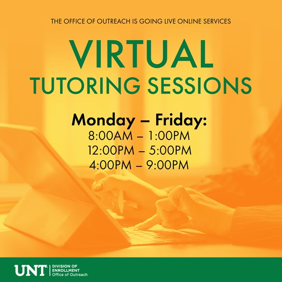 UNT Offers Virtual Tutoring