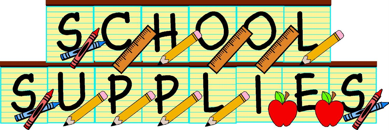 2019-2020 School Supply Lists, Click to View
