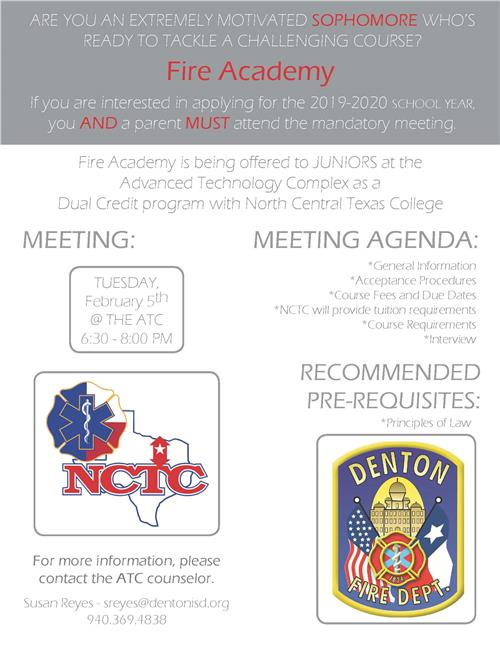 Fire Academy Flyer