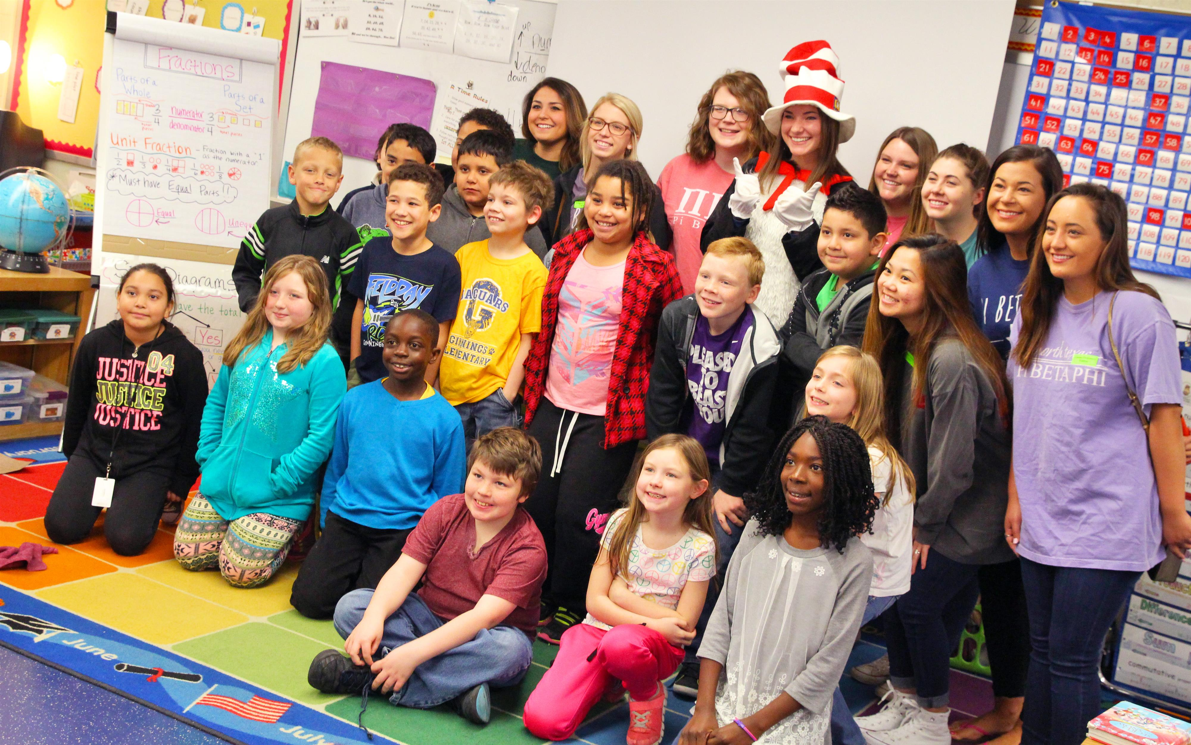 Read Across America Volunteer With Class