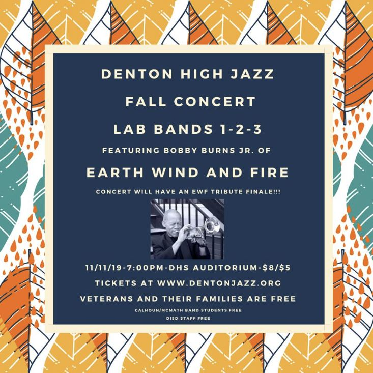 DHS Lab Band Concert Nov 11 with Bobby Burns of Earth, Wind, and Fire