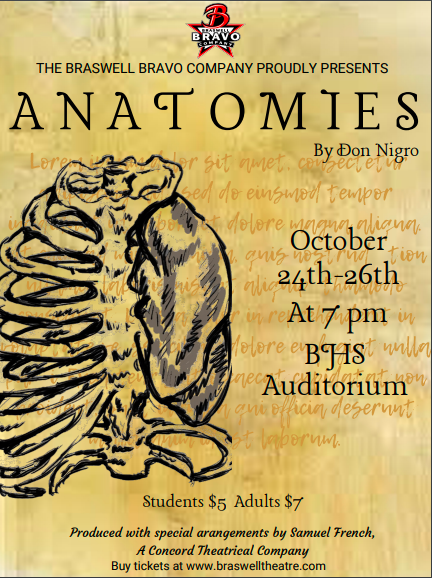 Braswell Theatre Presents, Anatomies, Oct 24-26