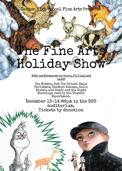 DHS Fine Arts Holiday Show Dec 13-14, 6pm