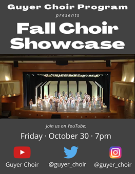Guyer HS Choir Concert Livestream Oct 30