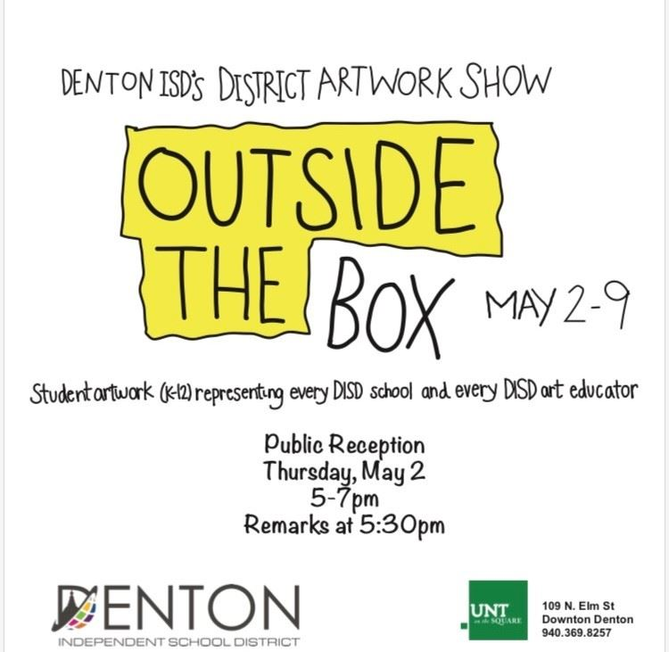 DISD Art Show, May 2-9, UNT On the Square
