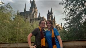 Me and my sister Jessica at Harry Potter World