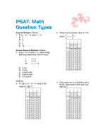 Printables Psat Math Practice Worksheets noel jerome math psat practice question types worksheet