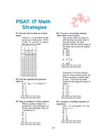 Printables Psat Math Practice Worksheets noel jerome math psat practice strategies worksheet