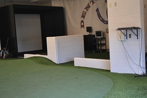 Golf simulator to work on distance and swing changes.  We use our indoor facility to practice when weather conditions aren't the best so our golfers can be the best!