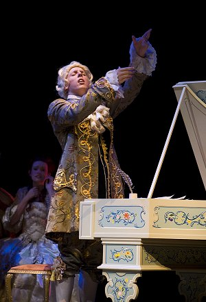 Zach Gamet as Wolfgang Amadeus Mozart